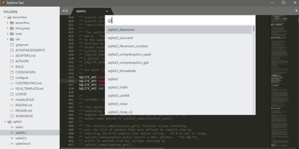 Sublime Text Editor shortcuts