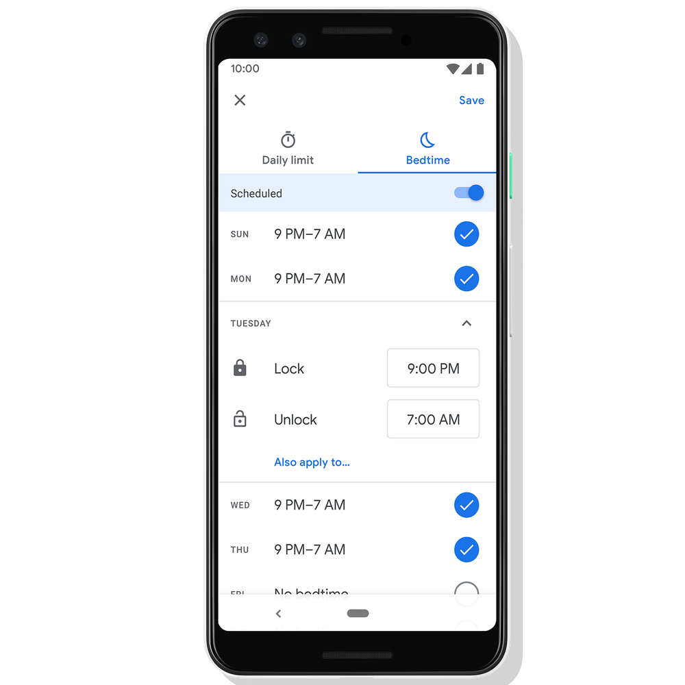 bedtime tool by google